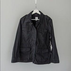 Black gap military type jacket.